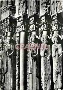 Moderne Karte Chartres Les Celebres statues colonnes du Portail Royal