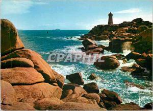 Moderne Karte La Bretagne Ploumanach Cotes du Nord Le Phare bati sur un massif de rochers