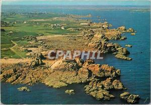 Moderne Karte Ile de Brehat Cotes du Nord Phare du Paon