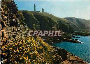 Moderne Karte Le Cap Frehel C du N Le phare et la cote sauvage