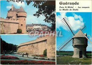 Moderne Karte Guerande Porte St Michel Les Remparts Le Moulin du Diable