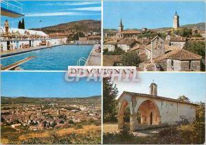 Moderne Karte Draguignan Var Souvenir Piscine