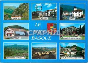 Moderne Karte Le Pays Basque La rHune Ascain Sare Ibarron Cambo les Bains St Pee S Bivelle St Jean Pied de Por