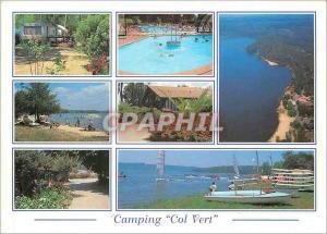 Moderne Karte La France les Landes Touristiques Camping le Col Vert