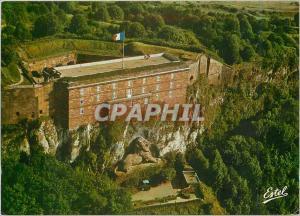 Moderne Karte Belfort (Terr de Belfort) Vue aerienne du chateau et du Lion