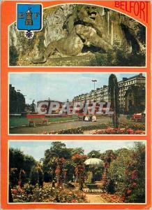 Moderne Karte Belfort (Terr de Belfort) Le Lion oeuvre du Scuplpteur Bartholdi la Place de la Resistance La Ro