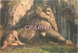 Moderne Karte Belfort (Terr de Belfort) Le Lion de Belfort