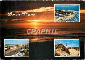 Moderne Karte Berck Plage (Pas de Calais) Hopital maritime L'esplanade Le phare
