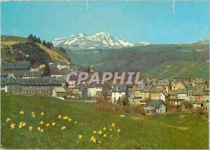 Moderne Karte Besse en Chandesse (Puy de Dome) alt 1050 m vue generale