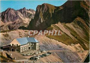 Moderne Karte Les Pyrenees Le Col du Tourmalet (2114 m) l'Hotellerie et le depart de la descente sur Bareges a