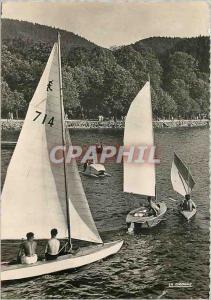 Moderne Karte Gerardmer Voillers sur le Lac Bateaux