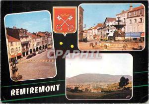 Moderne Karte Remiremont (Vosges) La Grande Rue La Place de la Courtine Vue generale