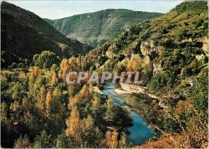 Moderne Karte En Parcourant les Gorges du Tarn Couleurs d'automne dans les Gorges