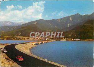 Moderne Karte Les Alpes en Coulerus naturelles lac de Serre Poncon (Hautes Alpes) (alimente par les eaux de la