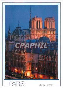 Moderne Karte Paris La Conciergerie et les Tours de N D