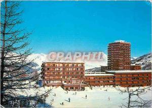 Moderne Karte La Plagne Au fond le Mont Blanc La Plagne