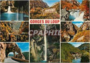 Moderne Karte Cote d'Azur French Riviera Les Gorges du Loup