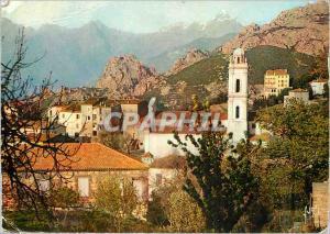 Moderne Karte La Corse oasis de Beaute Piana Joli Bourg dans un site d'une exceptionnelle beaute
