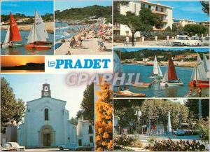 Moderne Karte Lumiere et Beaute de la Cote d'Azur Le Pradet