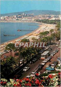 Moderne Karte Cannes La Croisette et le Suquet