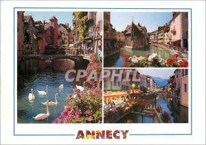 Moderne Karte Annecy Haute Savoie La Vieille ville Le Palais de l'Isle