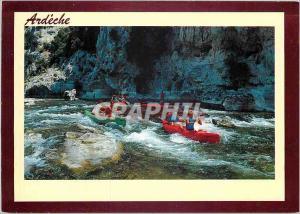 Moderne Karte Ardeche Passage d'un rapide Canoe Kayak
