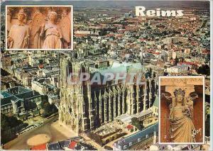 Moderne Karte Reims Marne La Cathedrale L'Ange au Sourire