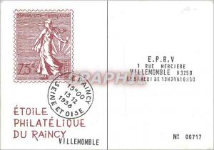 Moderne Karte Etoile Philatelique du Raincy