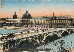 Moderne Karte Lyon Pont Wilson et l'Hotel Dieu