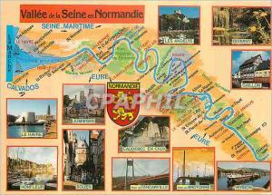 Moderne Karte Vallee de la Seine en Normandie Seine Maritime