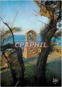 Moderne Karte Biarritz A travers les tamaris la cloche d'alarme et le phare