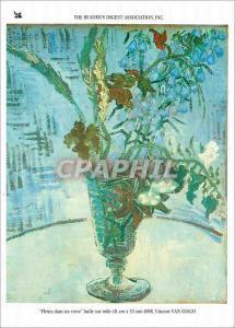Moderne Karte The Readers Digest Association Fleurs dans une verre huile sur toile Van Gogh
