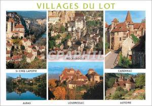 Moderne Karte Villages du Lot St Cirq Lapopie Rocamadour Carennac Albas Loubressac Autoire