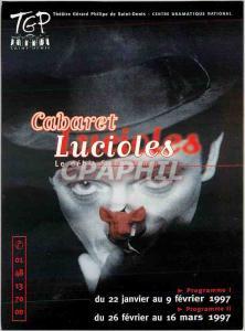 Moderne Karte Cabaret lucioles Saint Denis Theatre Gerard Philippe