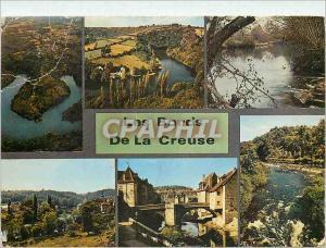 Moderne Karte La Vallee de la Creuse Crozant La Boucle du Pin Glenic La Celle Dunoise