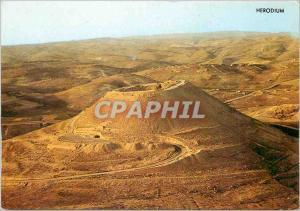 Moderne Karte Heroduim Ruins of a Fortress built on a hill over looking the Judean Desert south of Bethlehem