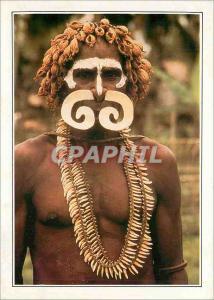 Moderne Karte Papua ex Guinea Nouvelle Guinee Guerrier Asmat