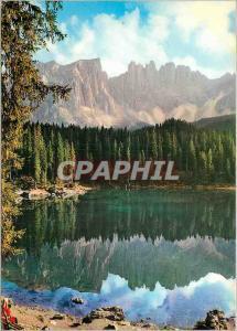 Moderne Karte Dolomiti Lago Carezza