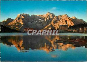 Moderne Karte Dolomites Sunset at Misurina lake