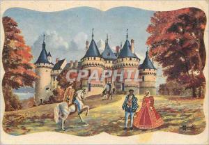 Moderne Karte Chateaux de la Loire Chaumont sur Loire Loir et Cher