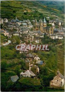 Moderne Karte Conques en Rouergue L'Aveyron Touristique