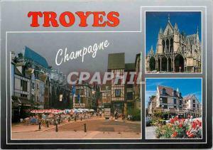 Moderne Karte En Champagne Troyes Aube La Place du Marechal Foch L'Eglise Saint Urban