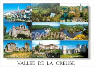 Moderne Karte Vallee de la Creuse Argenton Le Pin Gargilesse Bonnu Barrage d'Eguzon Crozant