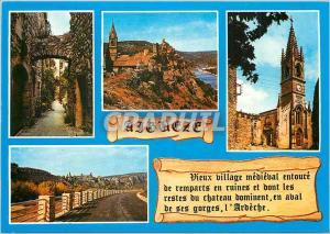 Moderne Karte Aigueze Souvenir de ce charmant petit village medieval