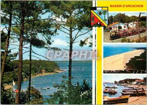 Moderne Karte Bassin d'Arcachon Gironde Le Petit train du Cap Ferret