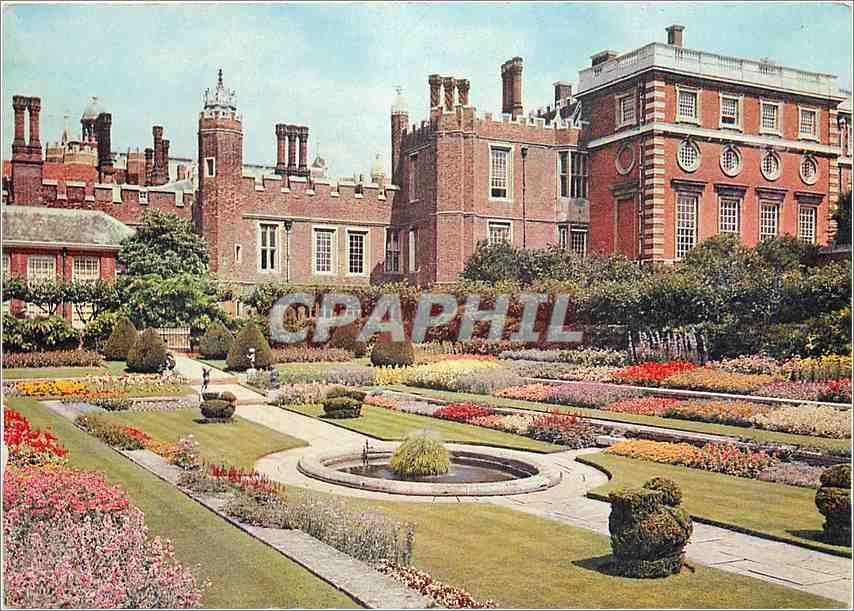 Moderne Karte Hampton Court Palace Middlesex 0