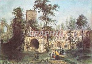 Moderne Karte Abbaye de Mortemer Eure Foret de Lyons Les ruines de l'Abbaye