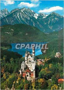Moderne Karte Chateaux royales de Neuschwanstein et Hohenschwangau