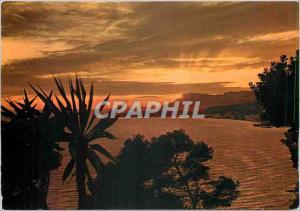 Moderne Karte Coucher de soleil en Mediterranee