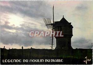 Moderne Karte Presqu'ile de Guerande LA Le Moulin du Diable